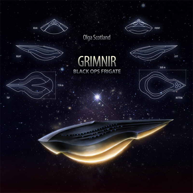 Olga Scotland - Big Cosmic Fish @ 'GRIMNIR: Black Ops Frigate' album (soundtrack, ambient)