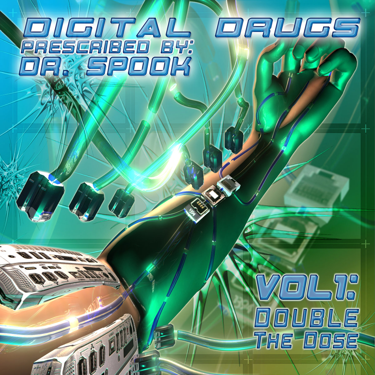 Darkforce - Two Towers @ 'Various Artists - Digital Drugs Vol.1: Double the Dose (Prescribed by Dr. Spook)' album (electronic, goa)