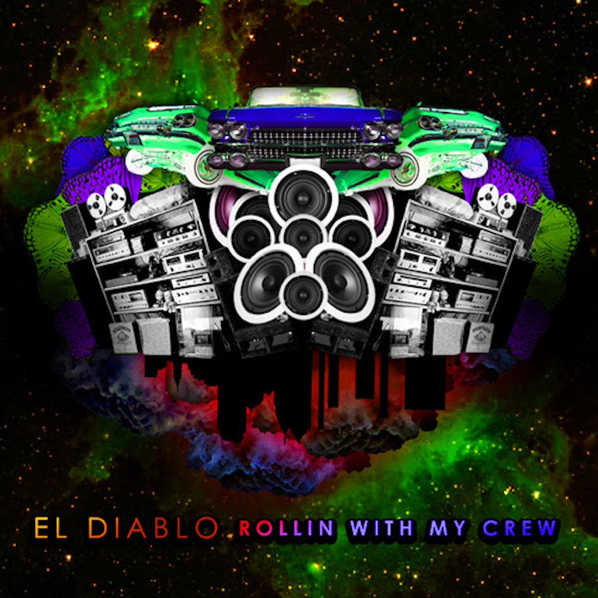 El Diablo - The Devil's Stance @ 'Rollin With My Crew' album (electronic, dubstep)