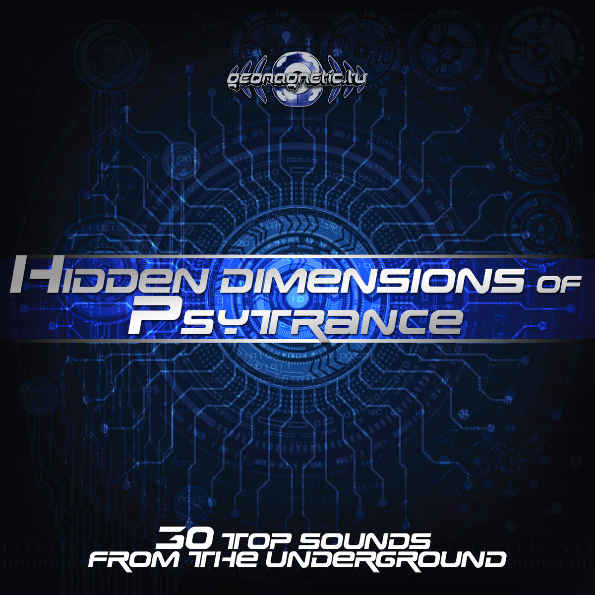 Various Artists - Hidden Dimensions of Psytrance (30 Top Sounds From The Underground) (artwork)