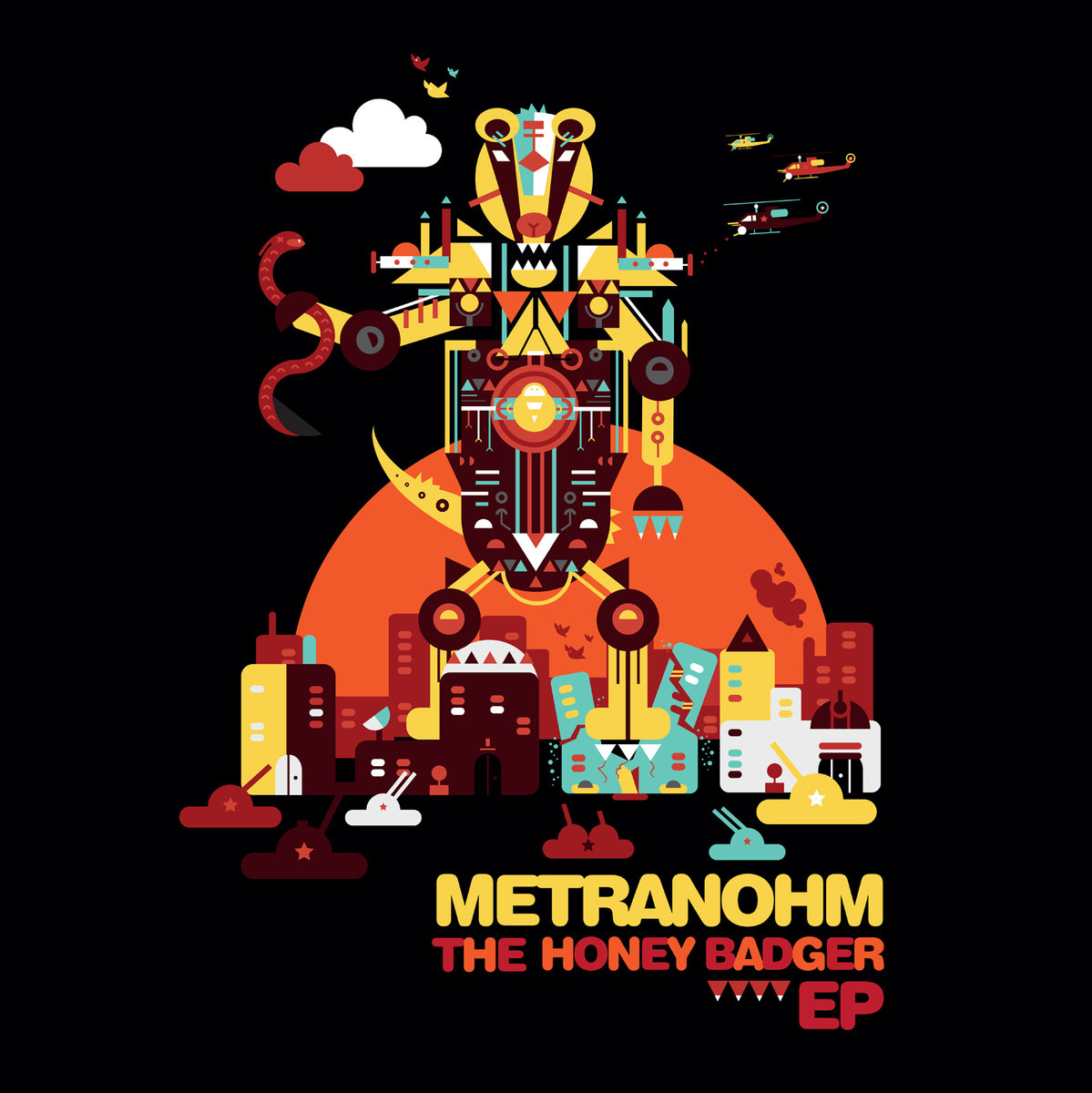 Metranohm - The Honey Badger EP @ 'The Honey Badger EP' album (dubstep, honey badger)