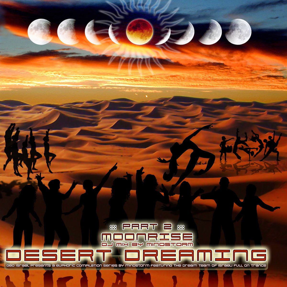 Black & White, Loud, & Chain Reaction - DMT Server @ 'Various Artists - Desert Dreaming Part 2: Moonrise (DJ Mix by Mindstorm)' album (electronic, goa)