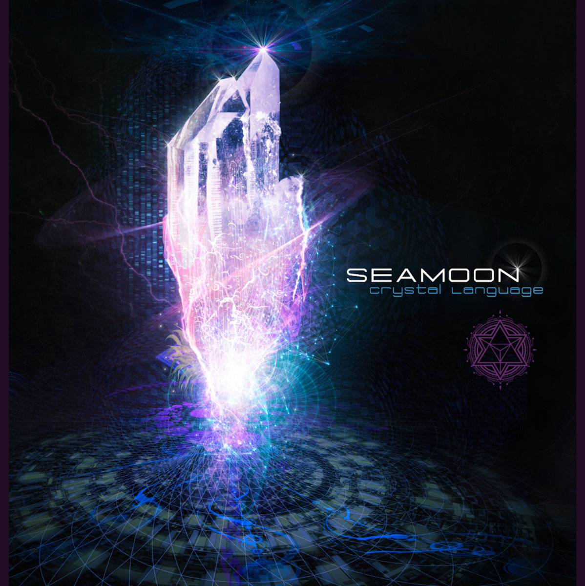 Seamoon - Purple Flame @ 'Crystal Language' album (electronic, psybass)