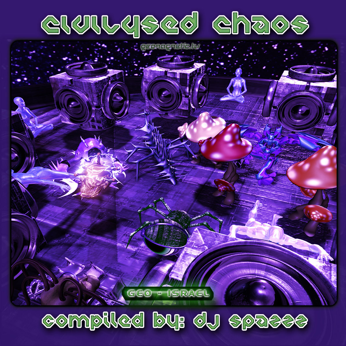 Darkforce & Spazzz - Darkness And The Spirit @ 'Various Artists - Civilysed Chaos (Compiled by DJ Spazzz)' album (electronic, goa)