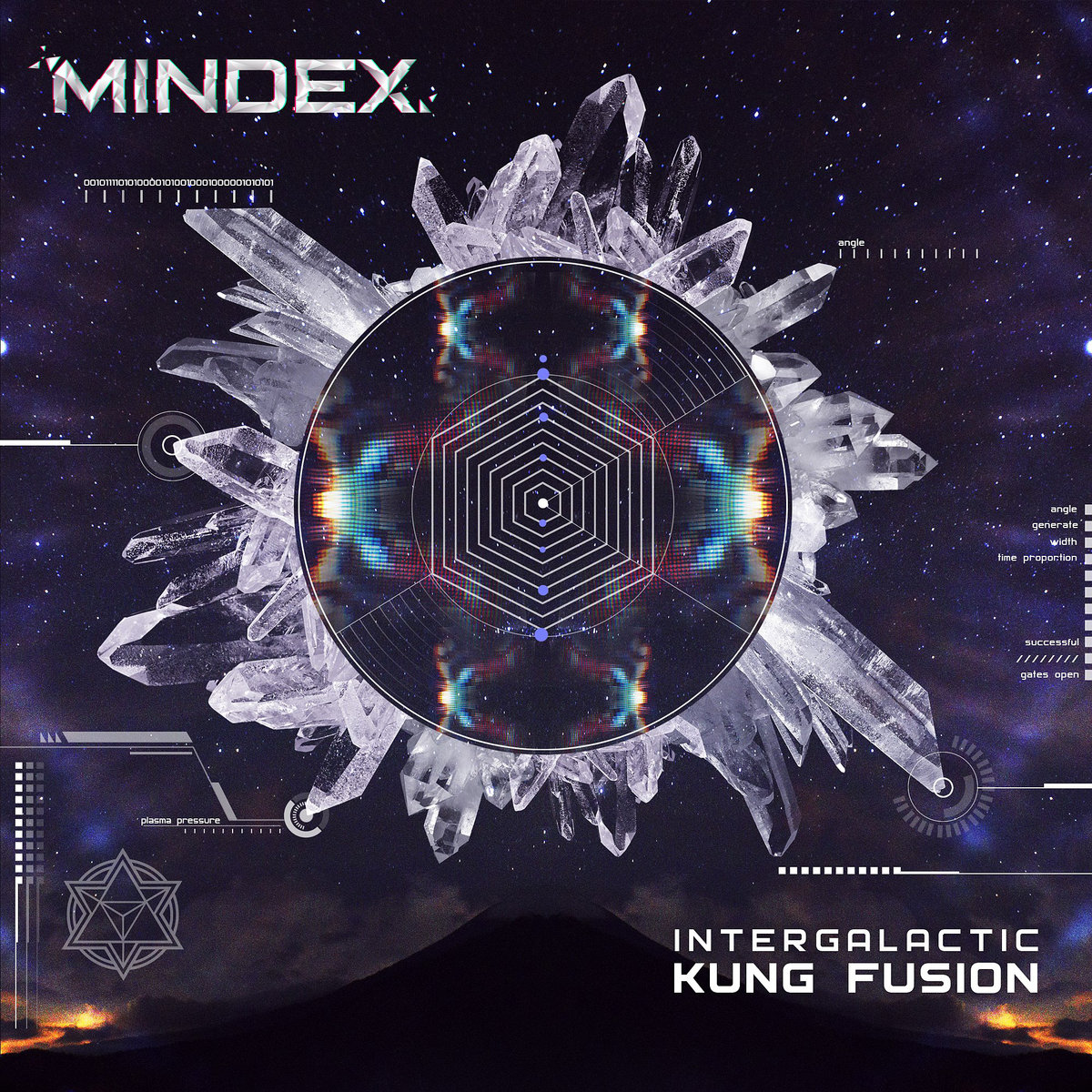 Mindex - Beauty and the Beast @ 'Intergalactic Kung Fusion' album (electronic, ambient)