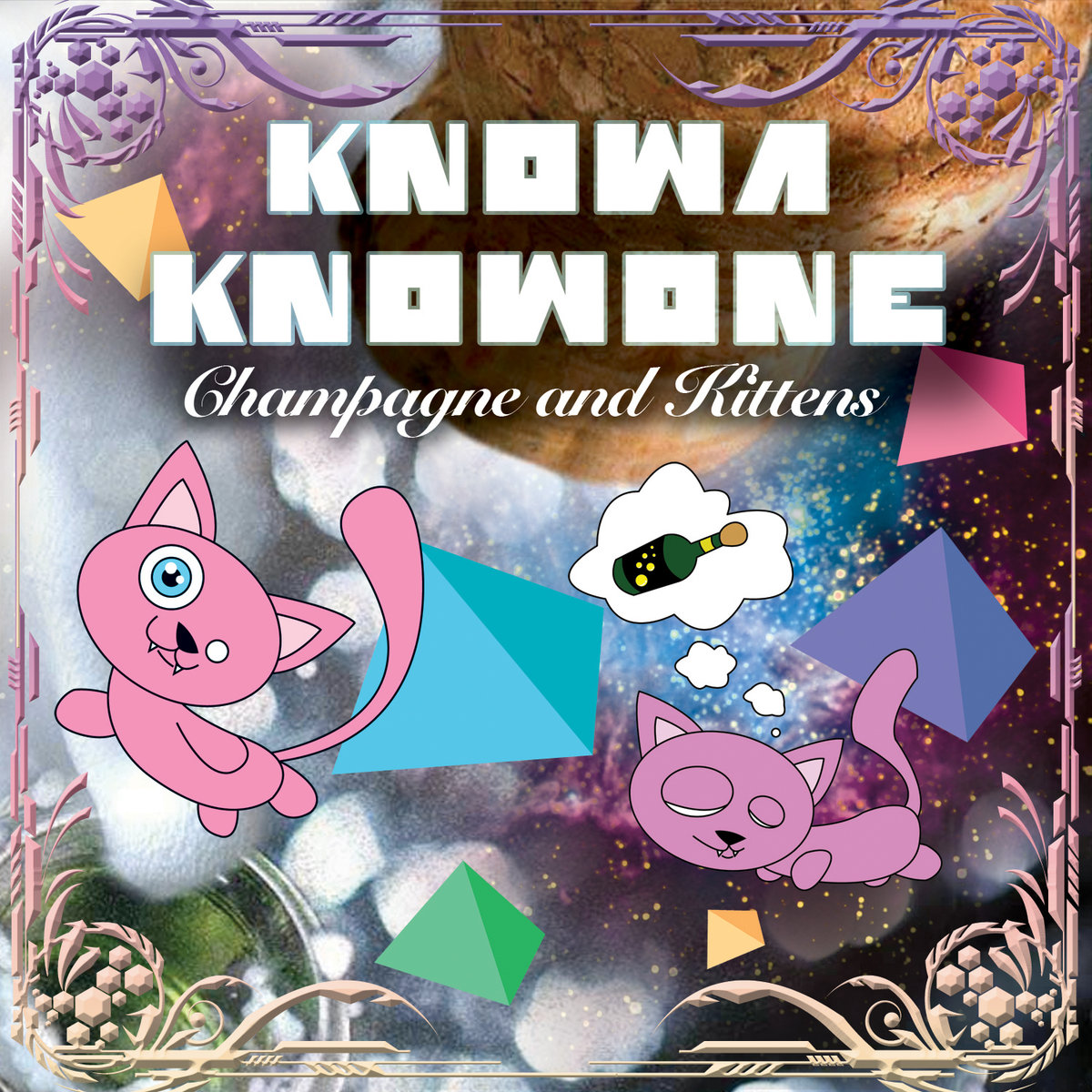 Knowa Knowone feat. Abai - Virtual Hero @ 'Champagne and Kittens' album (bass, electronic)