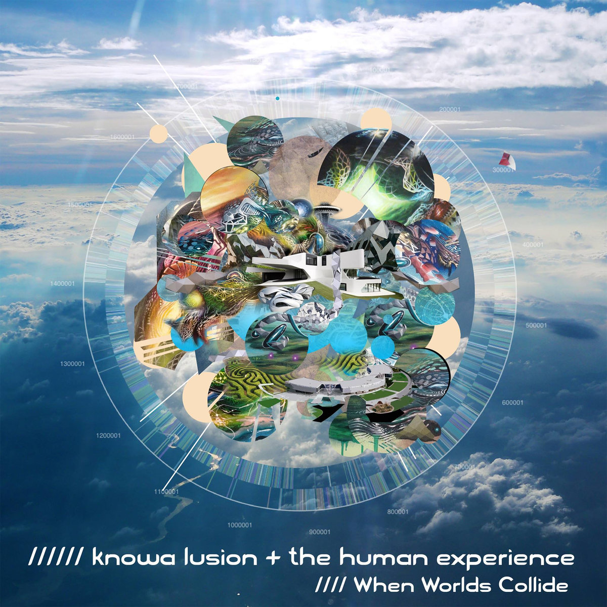 Knowa Lusion and The Human Experience feat. DrumSpyder - Chasing Thunder @ 'When Worlds Collide' album (bass, downtempo)