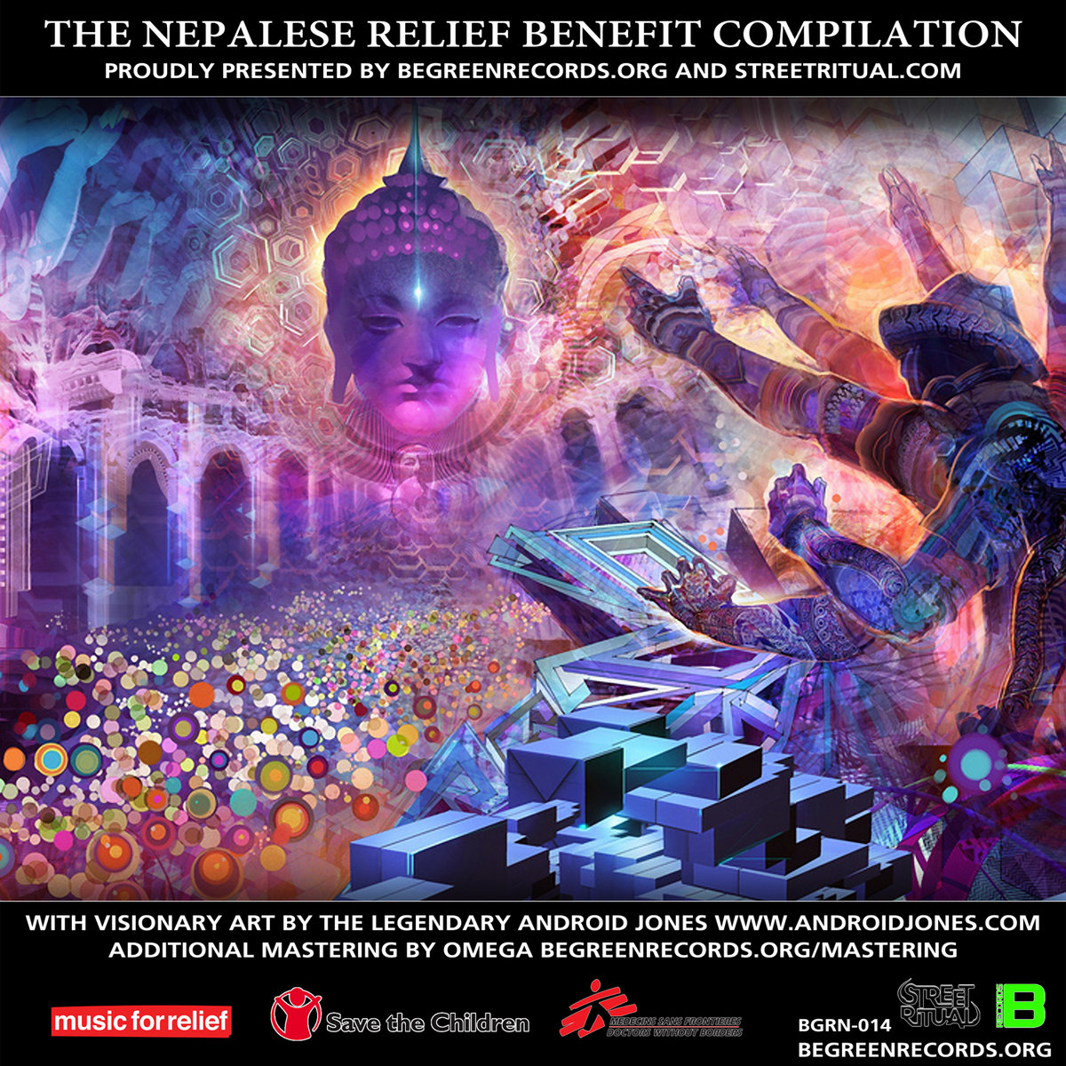 Knowa Lusion - Neon Rays @ 'Various Artists - The Nepalese Relief Benefit Compilation' album (bass, electronic)
