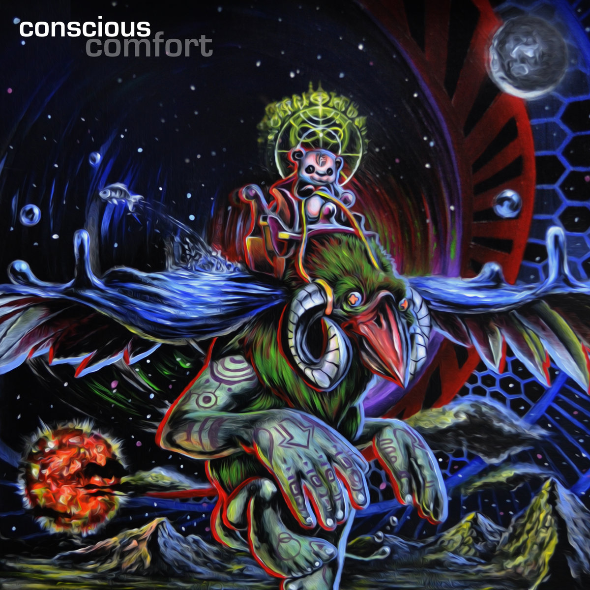 Ryanosaurus & Dirty Hippy - Birth Of A Thought @ 'Conscious Comfort' album (electronic, idm)