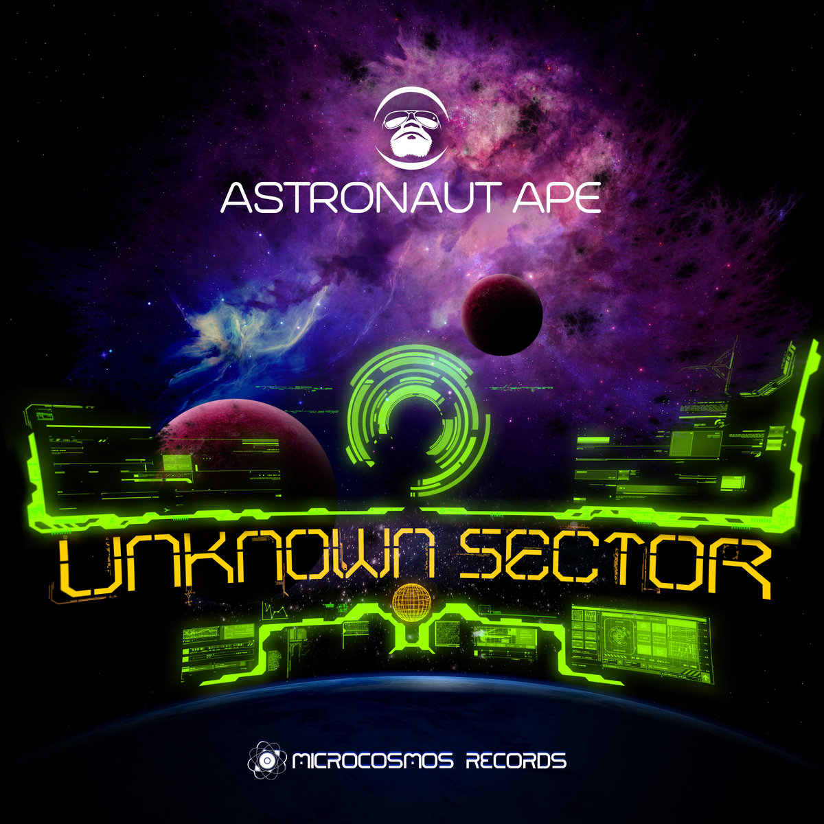 Astronaut Ape - A Lonely Robot In A Control Room @ 'Unknown Sector' album (ambient, chill-out)