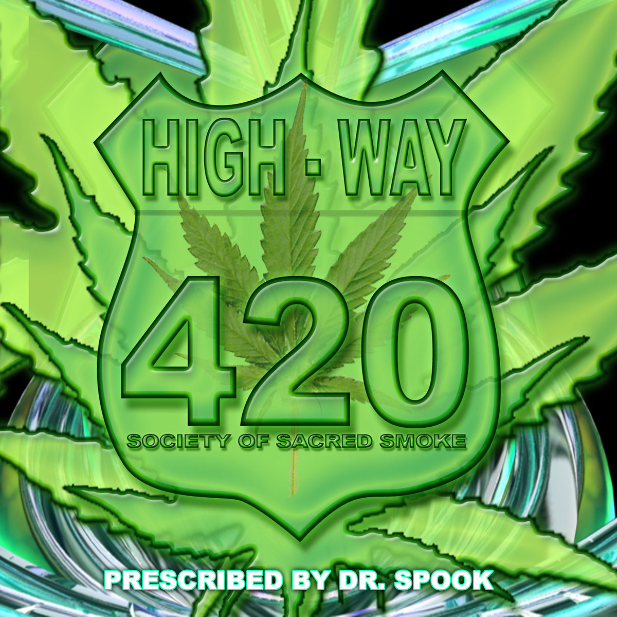 Megadrop, Random, & Helios - Vaporwhere @ 'Various Artists - High-Way 420: Society Of Sacred Smoke (Prescribed by Dr. Spook)' album (electronic, goa)
