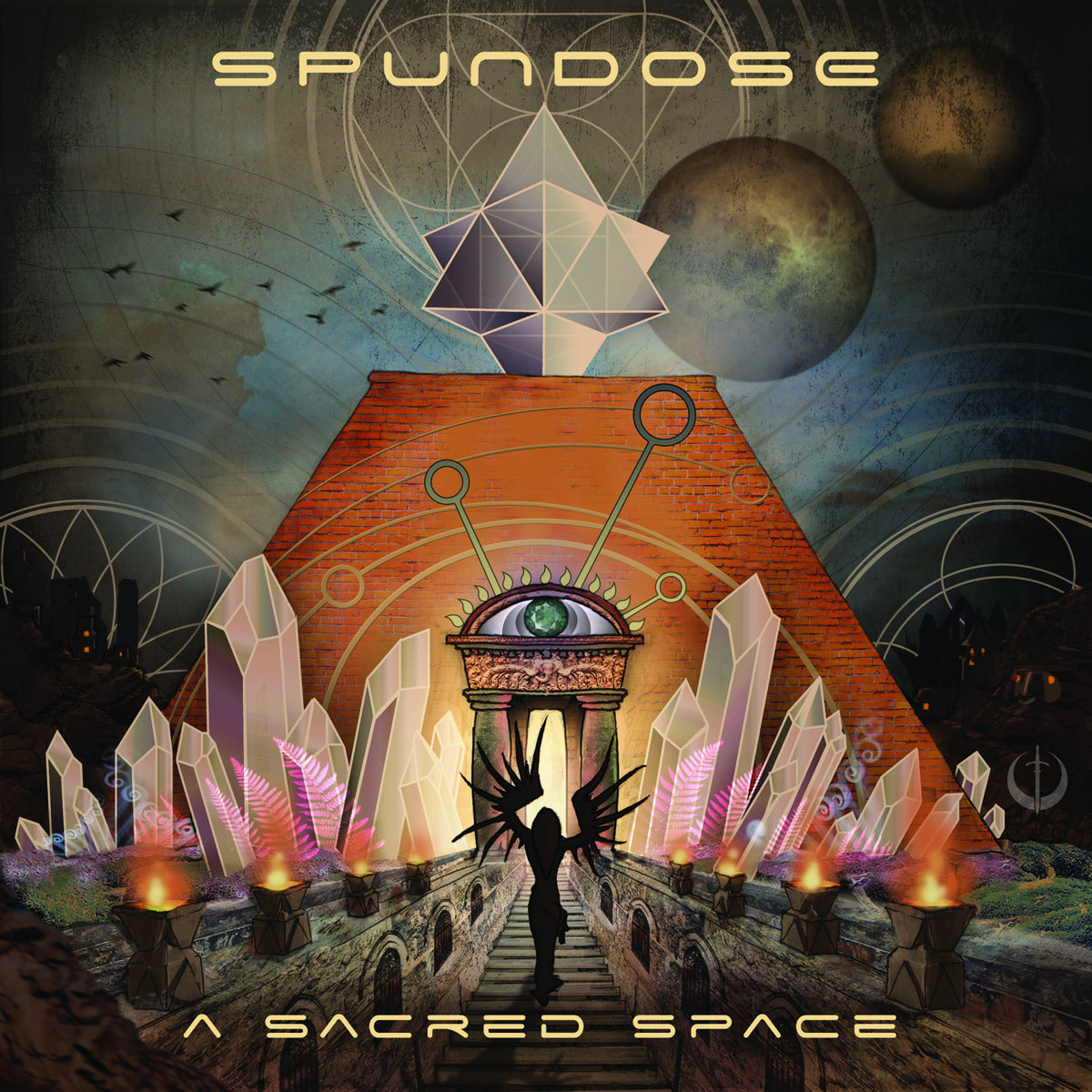 Spundose - Curiouser and Curiouser @ 'A Sacred Space' album (bass, electronic)
