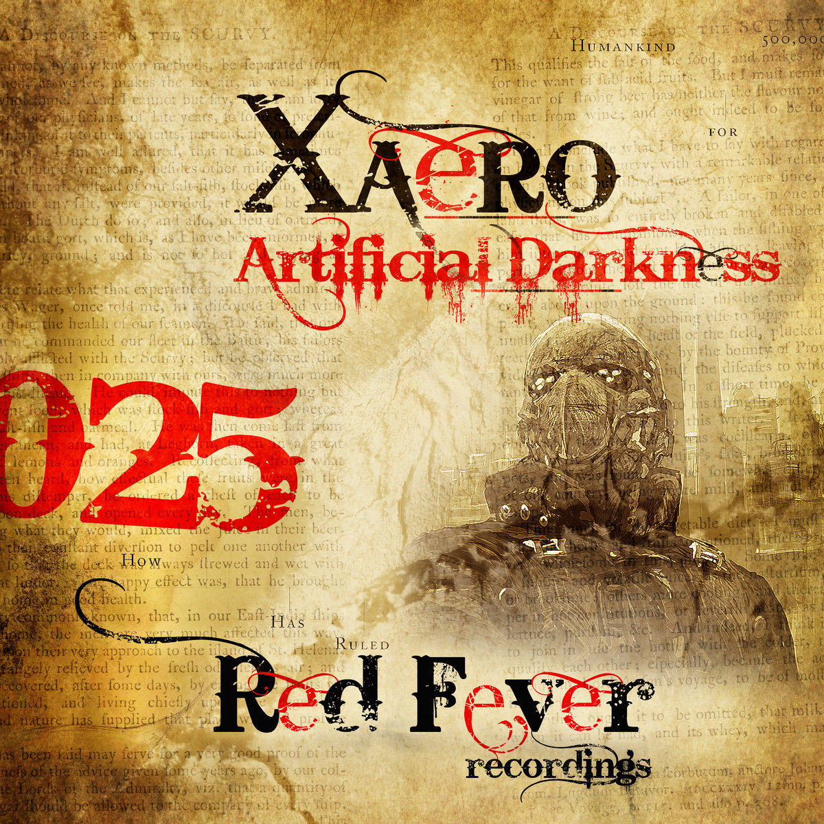 Xaero feat. Mel Agony - Edge Of Darkness @ 'Artificial Darkness' album (electronic, gabber)